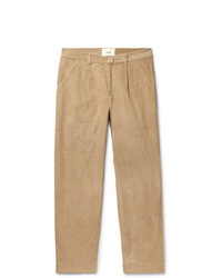 Pantalon chino en velours côtelé marron clair Folk