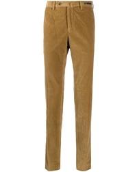 Pantalon chino en velours côtelé marron clair Pt01