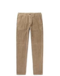 Pantalon chino en velours côtelé marron Altea