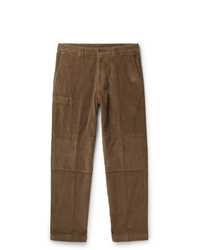 Pantalon chino en velours côtelé marron Lardini