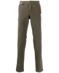 Pantalon chino en velours côtelé marron Pt01