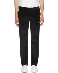 Pantalon chino en velours côtelé noir