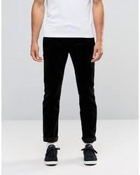 Pantalon chino en velours côtelé noir Edwin