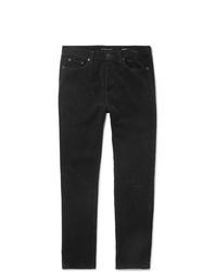 Pantalon chino en velours côtelé noir Saint Laurent