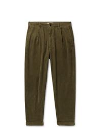 Pantalon chino en velours côtelé olive Alex Mill