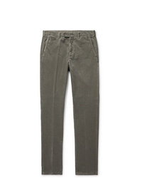 Pantalon chino en velours côtelé olive Aspesi