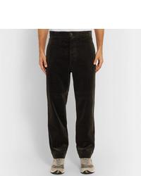 Pantalon chino en velours côtelé olive Margaret Howell