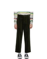 Pantalon chino en velours côtelé olive Noah NYC