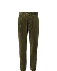 Pantalon chino en velours côtelé olive Oliver Spencer