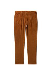 Pantalon chino en velours côtelé tabac Altea