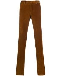 Pantalon chino en velours côtelé tabac Pt01