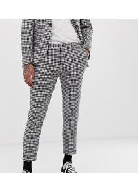 Pantalon chino en vichy blanc et noir Heart & Dagger
