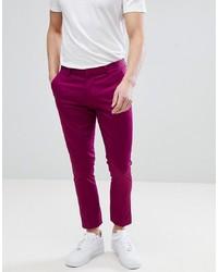 Pantalon chino fuchsia ASOS DESIGN