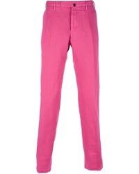 Pantalon chino fuchsia Incotex