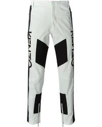 Pantalon chino géométrique blanc et noir Kenzo
