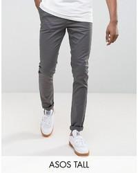 Pantalon chino gris foncé Asos