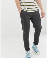 Pantalon chino gris foncé Pier One