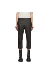 Pantalon chino gris foncé Rick Owens