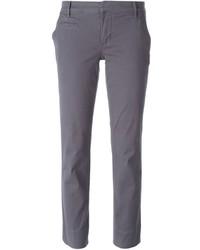 Pantalon chino gris foncé Tory Burch