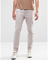 Pantalon chino gris Asos