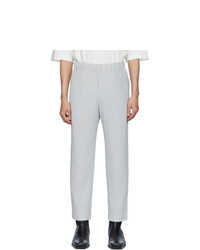 Pantalon chino gris Homme Plissé Issey Miyake