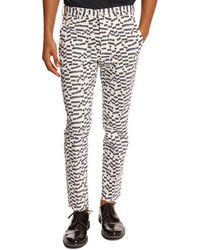 Pantalon chino imprimé blanc