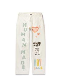 Pantalon chino imprimé blanc Human Made