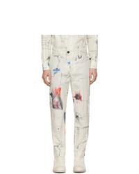 Pantalon chino imprimé blanc Isabel Benenato