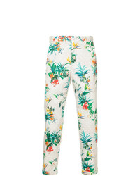 Pantalon chino imprimé blanc Loveless