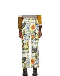 Pantalon chino imprimé blanc Martine Rose