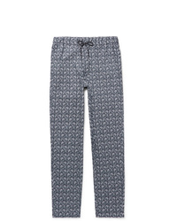 Pantalon chino imprimé bleu marine A.P.C.