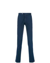Pantalon chino imprimé bleu marine Berwich