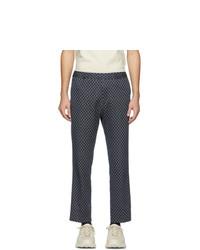 Pantalon chino imprimé bleu marine Gucci