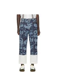 Pantalon chino imprimé bleu marine Loewe