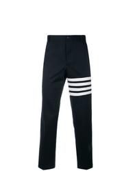 Pantalon chino imprimé bleu marine Thom Browne