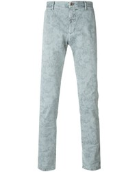 Pantalon chino imprimé gris