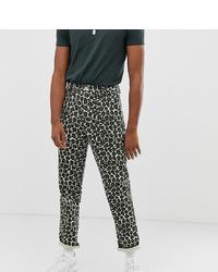Pantalon chino imprimé gris ASOS DESIGN