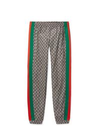 Pantalon chino imprimé gris Gucci