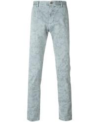 Pantalon chino imprimé gris Incotex