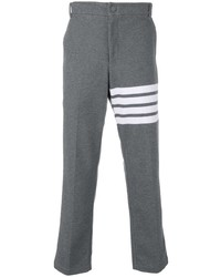 Pantalon chino imprimé gris Thom Browne