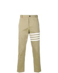 Pantalon chino imprimé marron clair Thom Browne