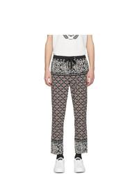 Pantalon chino imprimé multicolore Dolce and Gabbana