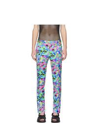 Pantalon chino imprimé multicolore Dries Van Noten