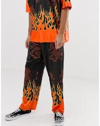 Pantalon chino imprimé multicolore Jaded London