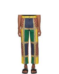 Pantalon chino imprimé multicolore Noah NYC