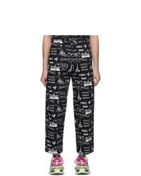 Pantalon chino imprimé noir et blanc Balenciaga