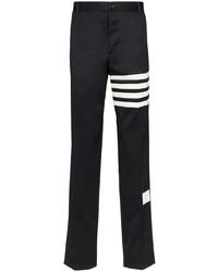 Pantalon chino imprimé noir et blanc Thom Browne