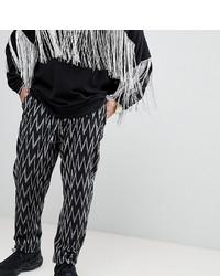 Pantalon chino imprimé noir ASOS DESIGN