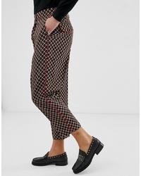 Pantalon chino imprimé noir ASOS Edition