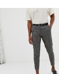 Pantalon chino imprimé noir Heart & Dagger